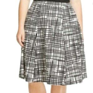 NWT Ava & Viv Black and White Print Skirt 20W
